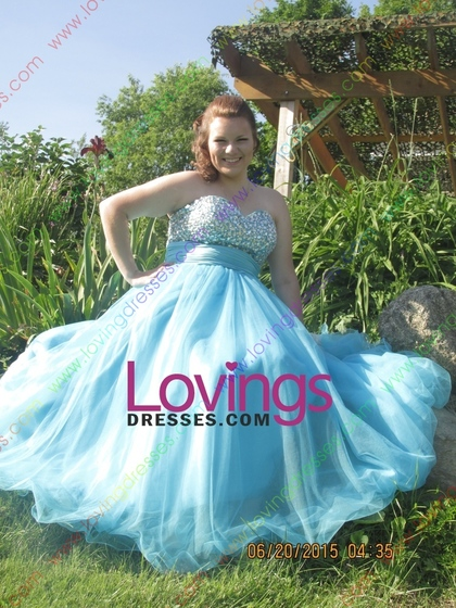 bd194347f28 Traditional Prom Dresses A Line Sweetheart Floor Length Tulle With Beading  Sequins